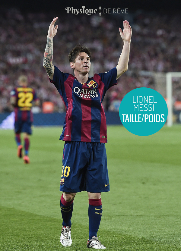 Lionel-Messi-taille-poids
